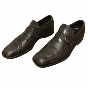 Gucci Brown Leather G Logo Dress Shoes Loafers